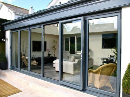 Aluminium bi-folding doors salisbury